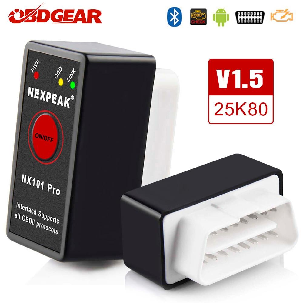 OBD2 ELM327 Bluetooth Pic18f25k80 OBD2 Car Scanner ELM 327 Mini V1.5 OBD2 Scanner OBD Elm327  V 1.5 Auto Diagnostic Tool
