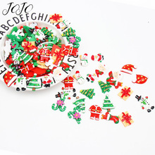 JOJO BOWS 10pc DIY Craft Supplies Christmas Flatback Planar Resin Accessory For Phone Case Sticker Bag Headwear Decoration