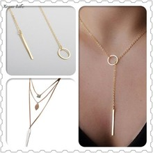 Women Multilayer Irregular Pendant Chain Statement Necklace(China)