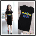 hot Games Pokemon Go Dress Girl Summer Casual Designer Kids Dresses For Girls Princess Costume Christmas Costume