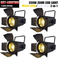 4pcs/lot 200W COB dmx zoom washing led par light