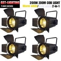 4pcs/lot 200W COB dmx zoom washing led par light