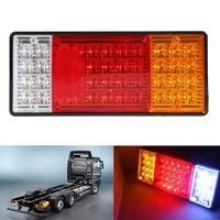 Free Shipping 2pcs HM 022 Rear Lamps Truck Boat Trailer Plastic Taillight 44 LED 12V ME3L