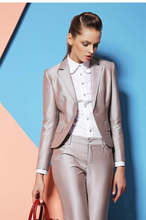 Hot sale Custom made High Quality Formal Ladies Pant Suits for Women Work Wear Suits Office Uniform Styles