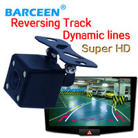 On promotion product car rear view camera adapt into various kinds of cars bring car Dynamic track line+hd ccd iamge+glass lens