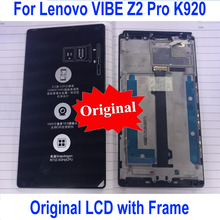 Original Best Working K920 LCD Sensor Touch Screen Digitizer Assembly with Frame For Lenovo Vibe Z2 Pro Phone Display Parts