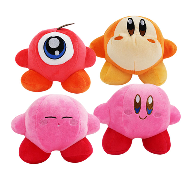 12-18cm cute Kirby plush cartoon doll toy Hot kawaii pink red yellow Kirby Star stuffed soft cotton doll toy for children gift Скульптура