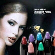 LAMEILA 14 Colors Eyeshadow Pencil Makeup Waterproof Shimmer Eye Shadow Pencils Pro Glitter Stick Cosmetics for Beauty Girls