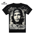 O Envio gratuito de 2016 Moda Verão Camisa dos homens Herói Che Guevara impressão 3D T camisa Argentina Homens T-shirt de Algodão Tees, TIO YK