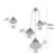 Pendientes de La Borla de lujo Negro Fan AAA + Cubic Circón Pendientes Largos Para Las Mujeres Del Partido Irregular Joyería boucle d'oreille E207