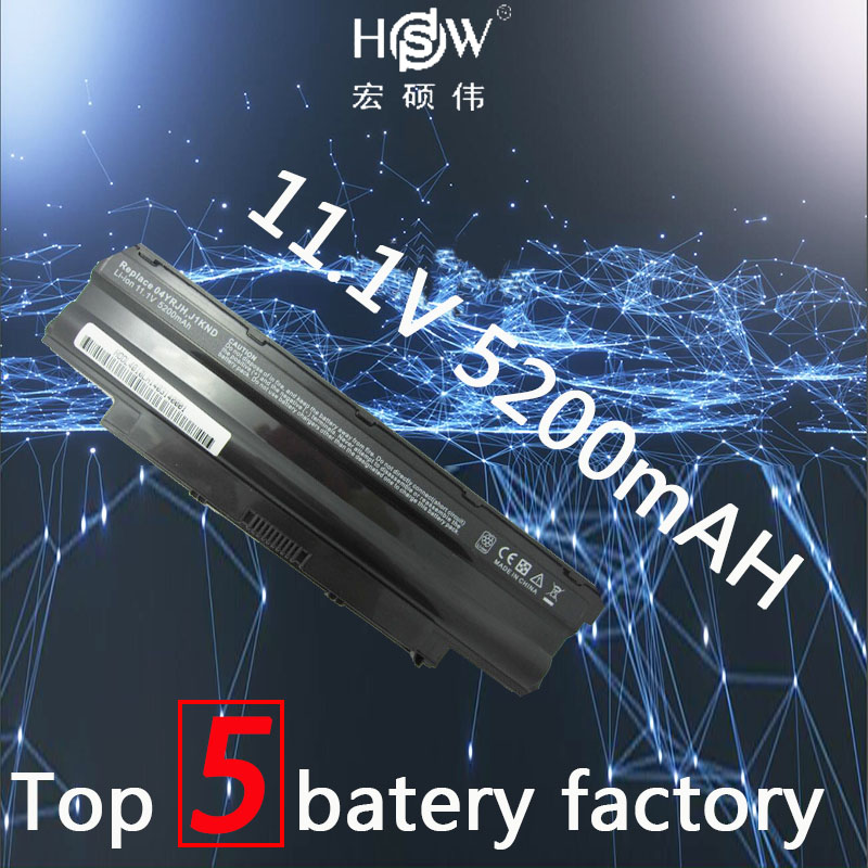 HSW Laptop Battery for Dell Inspiron 14R N4010 N4010D 13R N3010D N7010 N5010 N3010 J1KND N3110 N4050 N4110 N5010D N5110 N7010 5200mah battery for dell inspiron n4010 n4050 n5010 n7010d vostro 3550