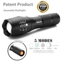 USA EU G700 CREE XML T6 2000LM Aluminum Camping Zoomable Cree E17 Led Flashlight Torch Lamplight