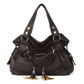 Hot women shoulder bags tassel vintage purses and handbag ladies hand bags women leather handbags Hobos black  Female tote Bag