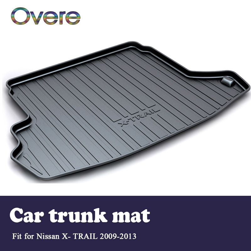 Overe 1Set Car Cargo rear trunk mat For Nissan X-trail T31 2009 2010 2011 2012 2013 Styling Boot Liner Anti-slip mat Accessories car auto accessories rear trunk trim tail door trim for subaru xv 2009 2010 2011 2012 2013 2014 abs chrome 1pc per set