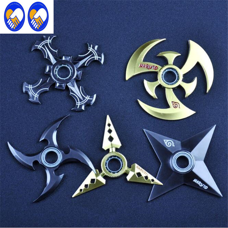 A Toy A Dream Naruto Shuriken Turn darts Fidgeted Cube Spinner Toys Rotary Tri-spinner Shuriken Dragon Blade Sword in Hand
