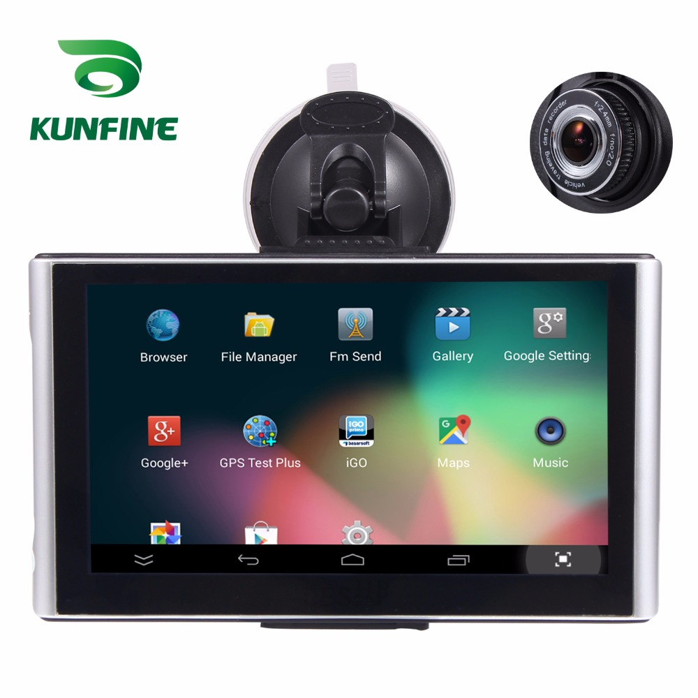 7 Inch Android Car DVR GPS Navigation Radio 8GB 512M Truck Vehicle GPS Navigators Lorry Rear View Camera Screen Free Map Upgrade