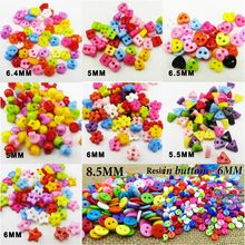 300PCS Small series Colors Dyed Plastic cat buttons coat boots sewing decorative clothes accessory kid toy button P-501(China)