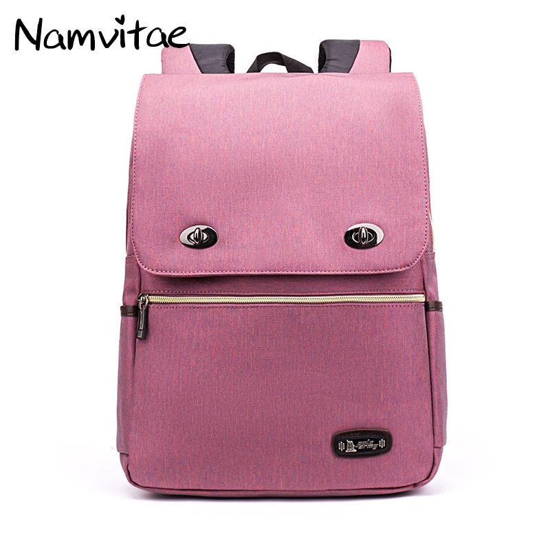 Namvitae Women Backpack Nylon Waterproof Casual Oxford Backpack for Students Large Capacity Teenager Fashion Satchel School Bag large capacity waterproof oxford backpack unisex students backpack school bags for teenagers laptop backpack women travel bag