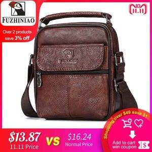 FUZHINIAO Genuine Leather Messenger Bag Small Shoulder Bags e60a1e2adf442