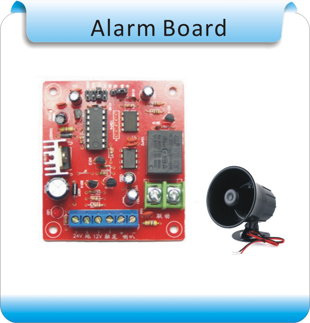 DIY SG-22 DC9-36V Home Security burglar Alarm System board Loudly Speaker for garage and warehouse +alarm speaker