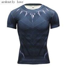Black Panther T-shirt Captain America Civil War T 3D Men's Marvel Avengers Iron Man Fitness Male Tops