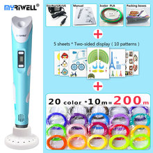 myriwell 3d pen 3d pens,LED display,ABS/PLA Filament,3 d pen Add special brackets to protect hands, 3d printed pen Gift for Kids