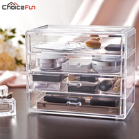 New Arrival 4 Drawers Organizing Boxes Glossy Acrylic Drawer DIY Washable Jewelry Box Large SF 1540