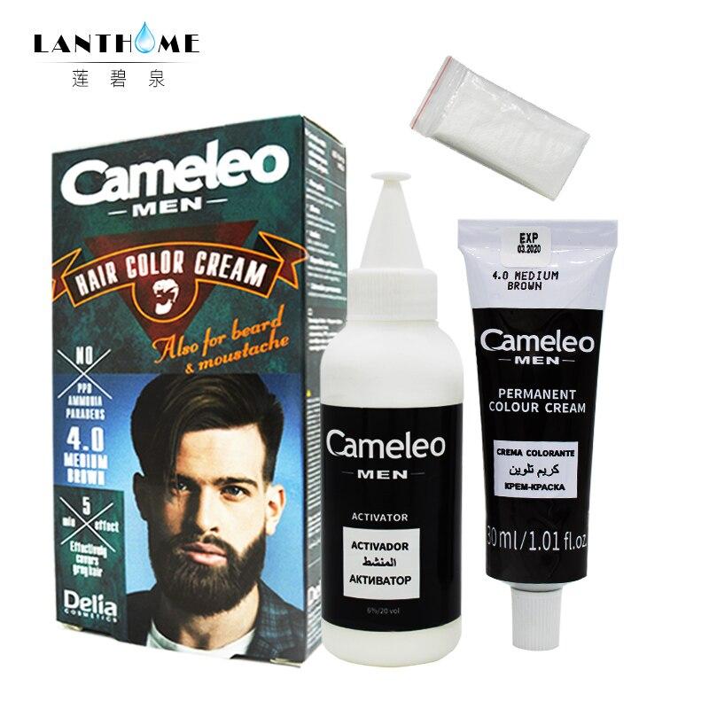 Cameleo Men Hair COLOR DYE CREAM Beard Mustache Anti Grey Colour ...