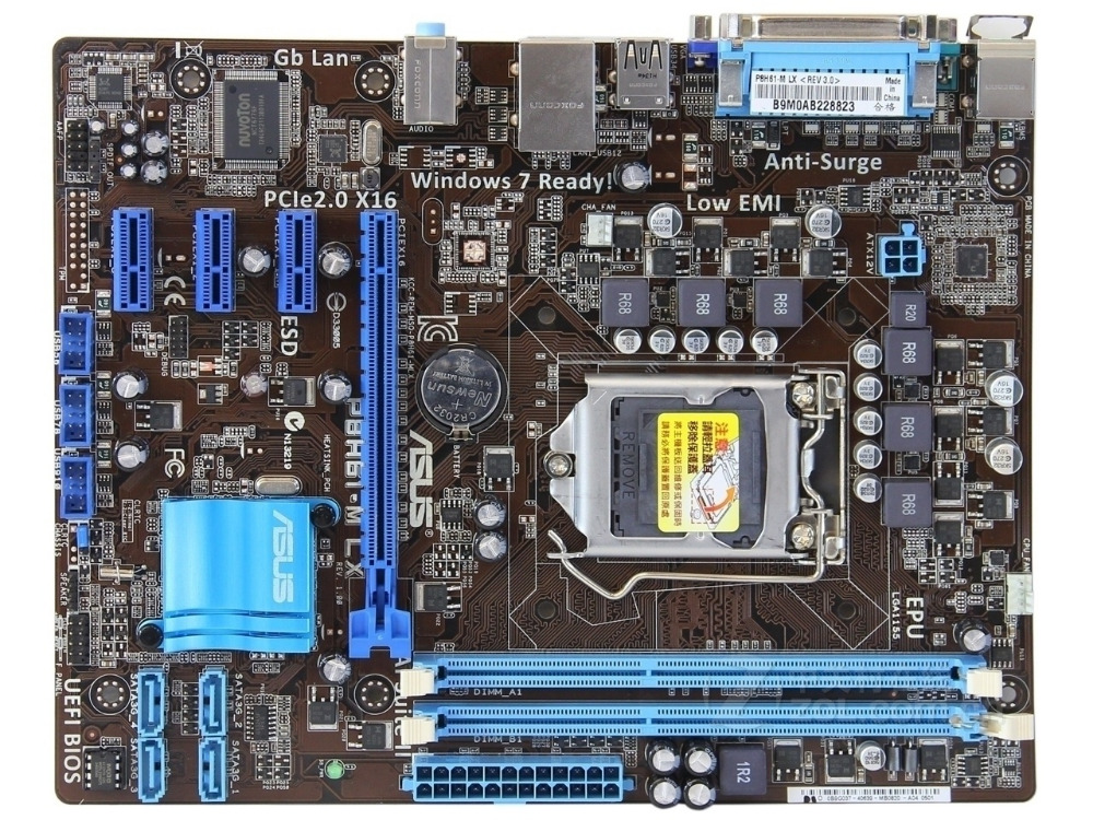 Free shipping original motherboard for ASUS P8H61-M LX LGA 1155 DDR3 for I3 I5 I7 22/32nm CPU 16GB H61 desktop mainboard original motherboard for p8h61 i ddr3 lga 1155 boards for i3 i5 i7 cpu 16gb h61 desktop motherboard free shipping