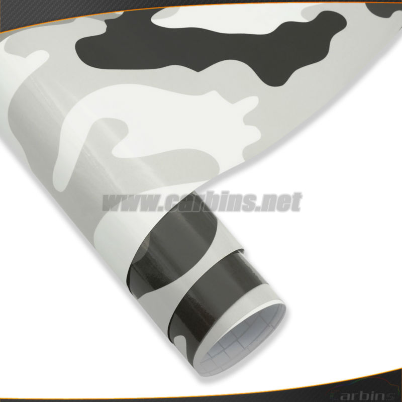 Pole Camouflage car wrapping vinyl black and white camouflage sticker bomb Free shipping!