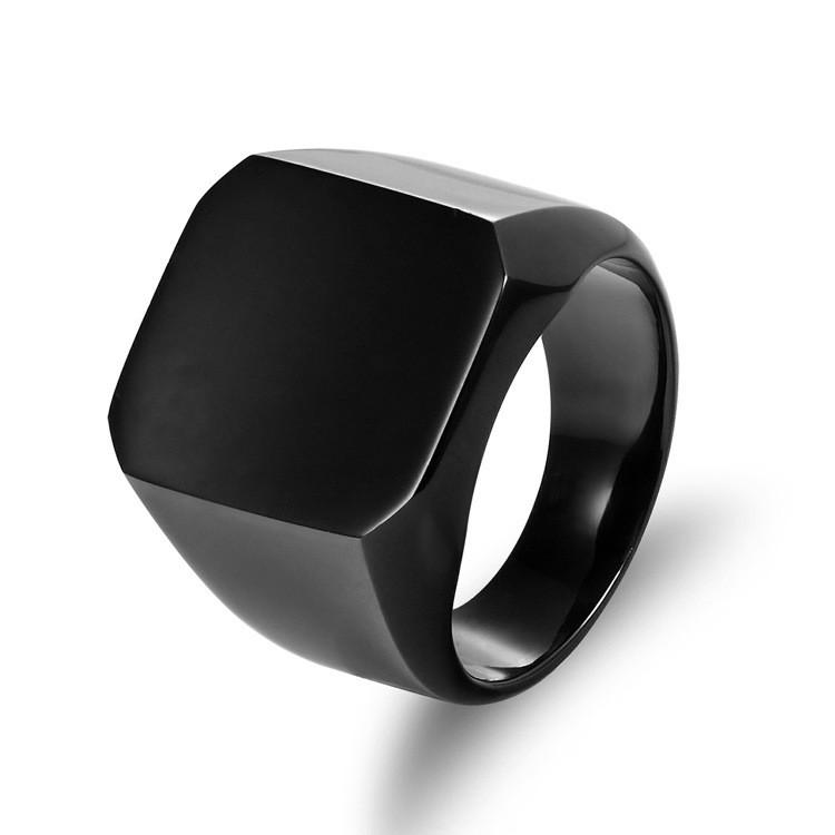 Мужские кольца в стиле панк Черный Рок Крутое модное кольцо