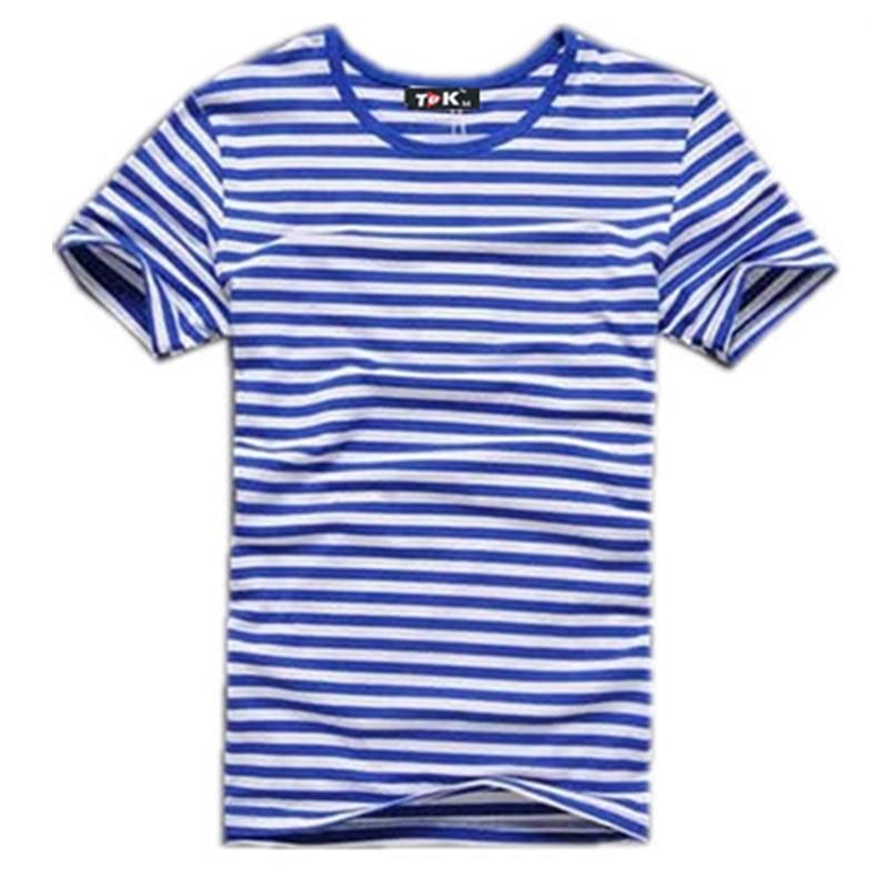 2017 poletje moška majica s kratkimi rokavi mornarsko majico slim slim moška majica črtasto črto priložnostna moška oblačila s kratkimi rokavi