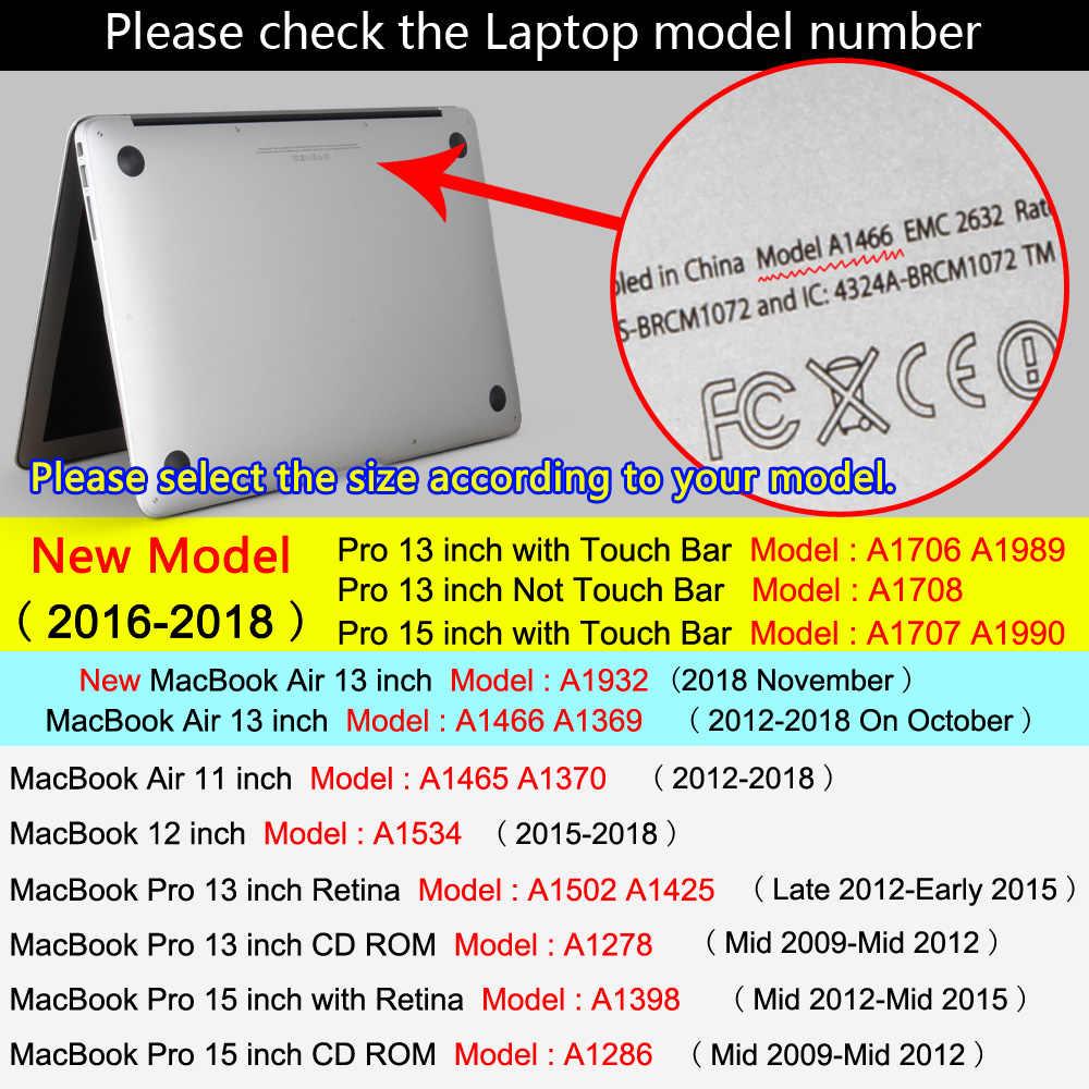 حافظة لجهاز ابل ماك بوك اير برو ريتينا 11 12 13 15 ماك بوك 15.4 13.3 بوصة مع شريط لمس غلاف لوحة مفاتيح