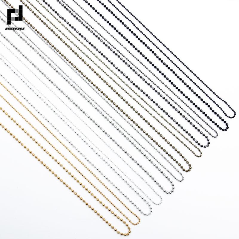 Basehome 10 шт./лот 70 см Длина 1.5 мм/2.4 мм шар из бисера Цепи цепочка оптом простой Стиль Цепочки и ожерелья DIY ожерелья для мужчин выводы