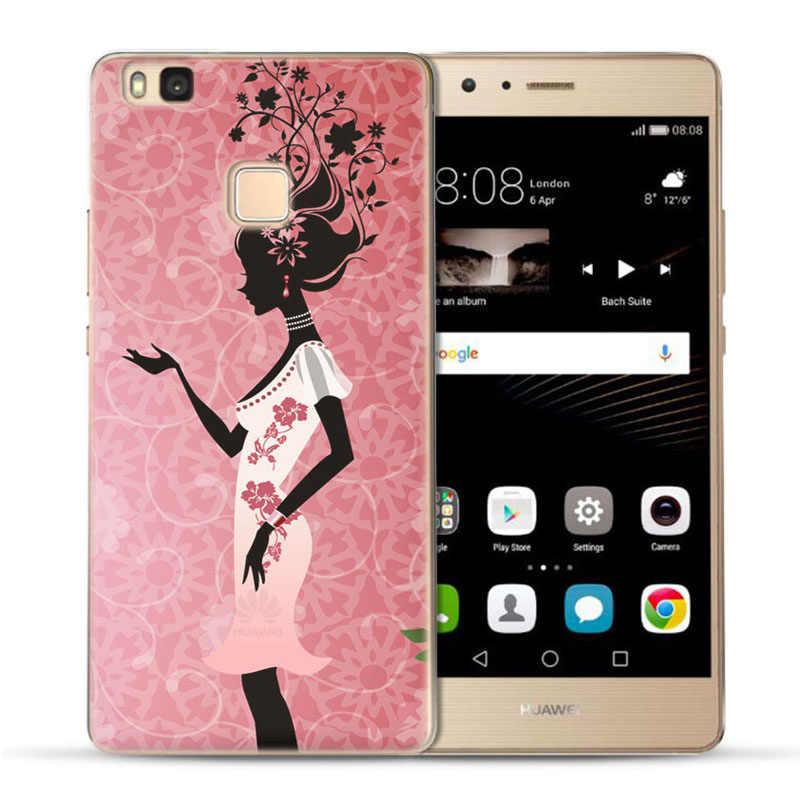 MLCRIYG мягкий чехол для телефона для Huawei P9 Lite/P8 Lite/P10 Lite TPU красочные декорации с цветочным печатным рисунком дизайнерский силиконовый чехол Fundas C017