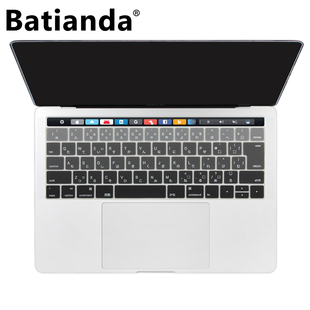 US $4 41 25% OFF|Japanese Layout For Macbook Pro 13 3 15 inch New 2016 2017  Model TouchBar & Retina Display Silicone Keyboard Cover Protector-in