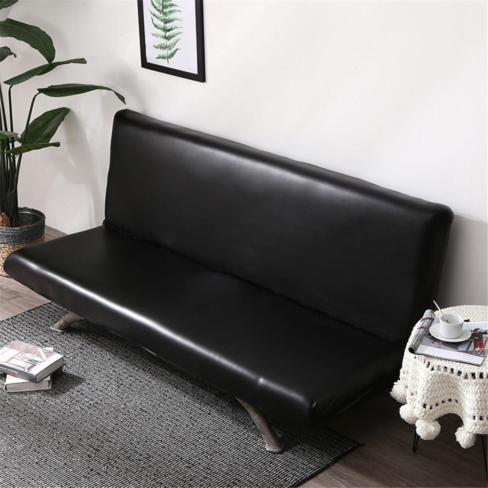 Solid Universal Waterproof sofa cover Elastic slipcover Anti-dirty Black Deep Gary Armless Sofa Couch Cover ProtectorSolid Universal Waterproof sofa cover Elastic slipcover Anti-dirty Black Deep Gary Armless Sofa Couch Cover Protector