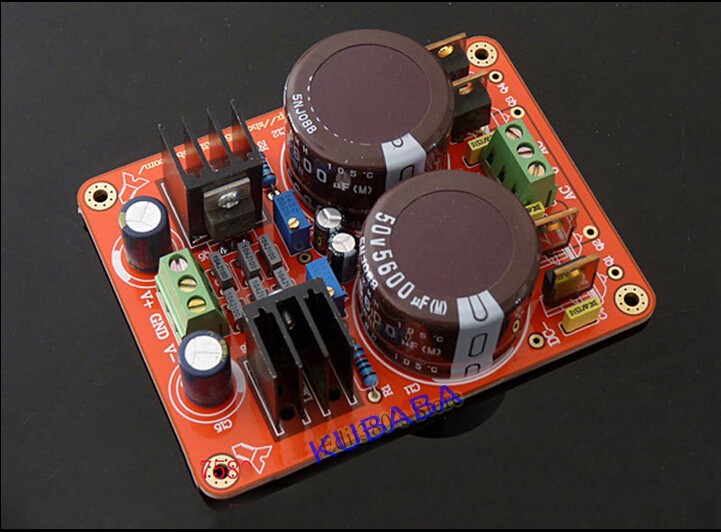 New Assembled LM317 / LM337 Dual Power Adjustable Regulated Power Supply Board lm317 lm337 adjustable filtering power supply kits diy ac dc voltage regulator
