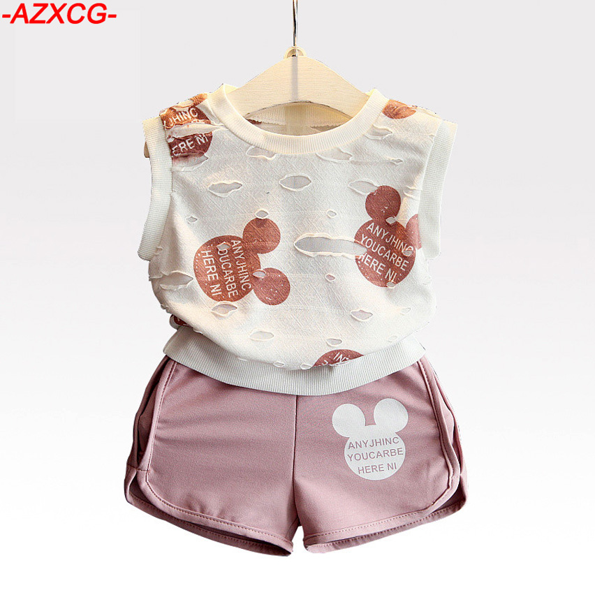 2017 Spring Girls Minnie Clothes Set Kids Cotton Mickey Clothing Sets Baby Fashion Children Short 2Pcs Suit Pant Set dhl equick ems shipping 6 sets girls clothing sets lots fashion kids clothing sets 2017 top jean pant 2pcs girls clothes sets