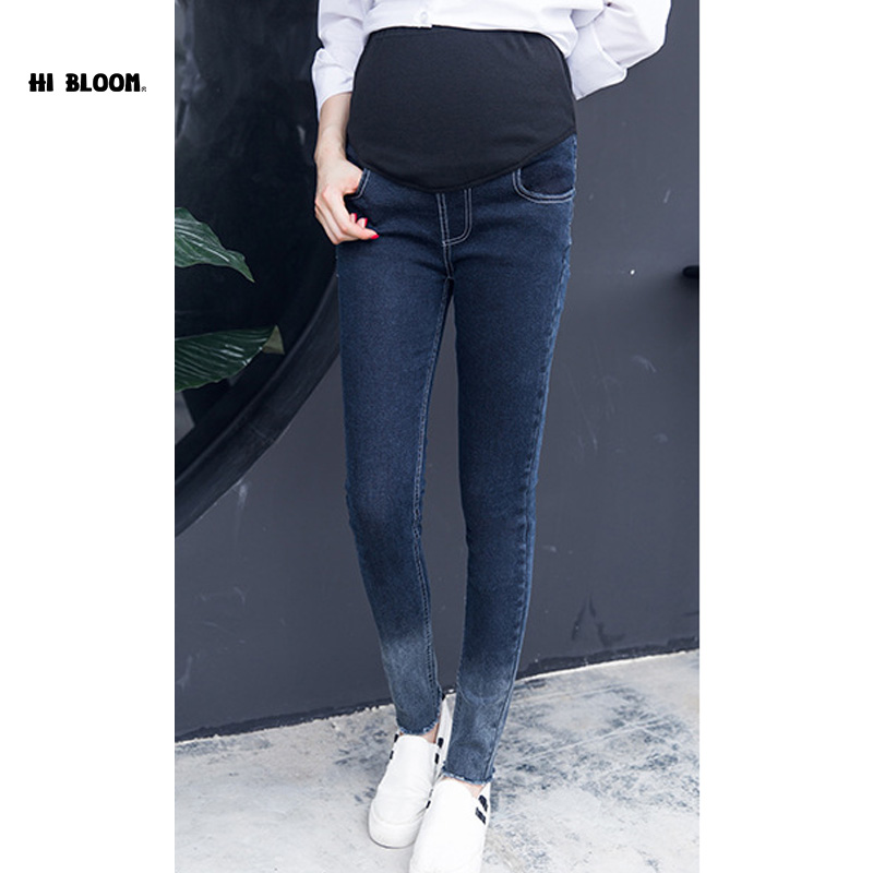 M 3XL Plus Size Elastic Waist 100 Cotton Maternity Jeans Pants For Pregnancy Clothes For Pregnant