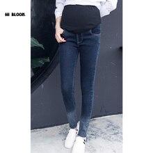 M-3XL Plus Size Elastic Waist 100% Cotton Maternity Jeans Pants For Pregnancy Clothes For Pregnant Women Legging Autumn Winter