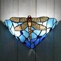 Витражное стекло ручной работы цветочный настенный светильник Настенный светильник бронзовая отделка