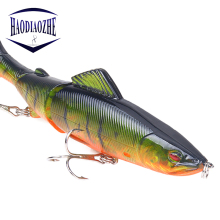 Купить с кэшбэком Minnow Fishing Lure Multi Jointed Sections 13cm 20g Hard Bait Artificial Crankbaits Pesca Wobblers rolling Pike Carp FishTools