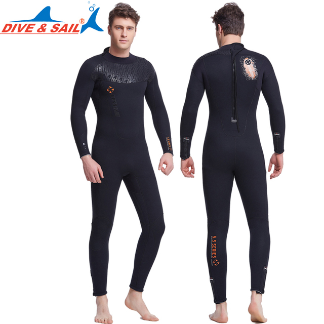 c4c59ed926 Dive Sail mens 5mm wetsuits wet suits for men women Scuba Diving Suits  Spearfishing Wetsuits S TO 3XL plus size