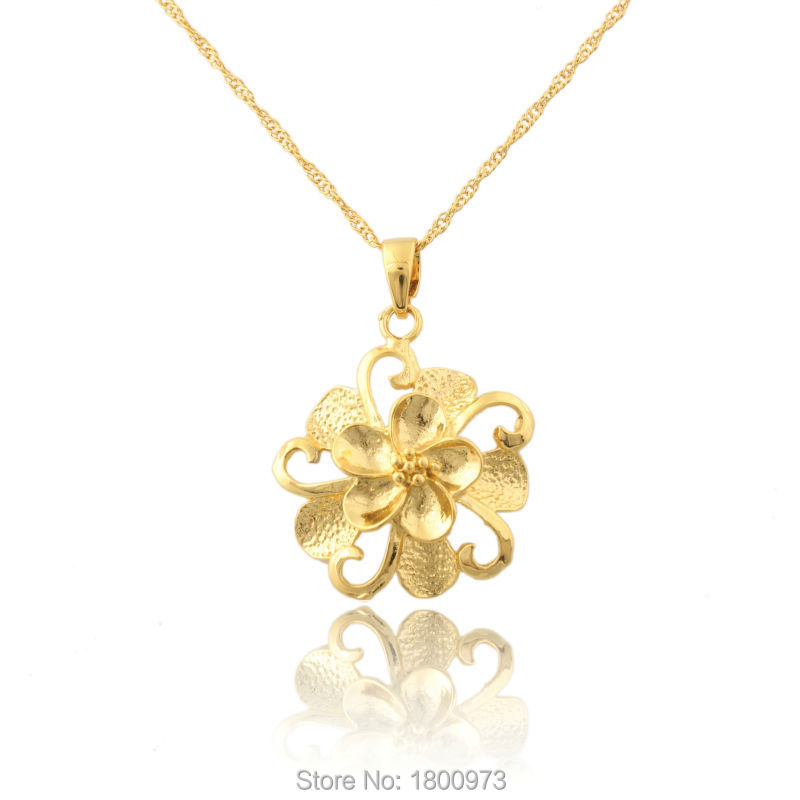 Wholesale 22K Gold Color Beautiful Flower Design Fashion Jewelry ...