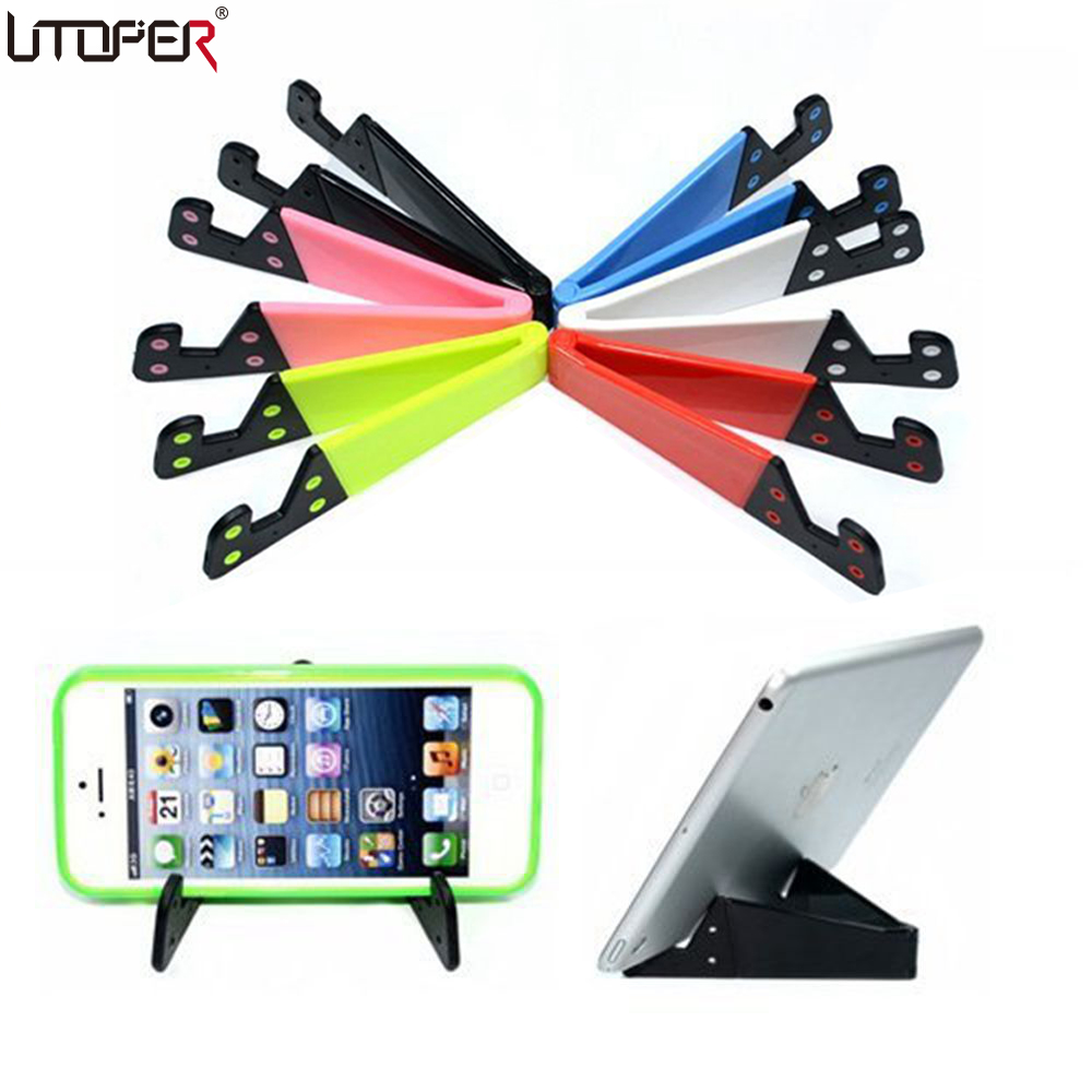 For Apple iPad iPhone Universal Adjustable Foldable Cell Phone Tablet Plastic Desk Stand Holder Smartphone Bracket For Samsung