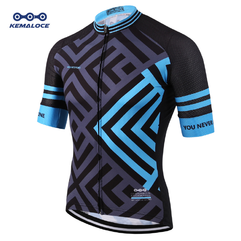 European Latest Full Sublimation Cycling Jersey Breathable Blue Comfortable Road Bike Wear Personalized China Cycling Shirts Top