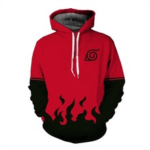 Naruto Red Flame Zipper Hoodie