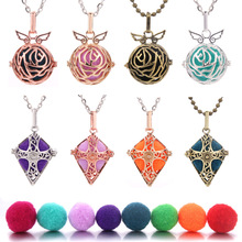 2019 New Mexico Chime Music Ball Caller Locket Necklace Vintage Pregnancy Necklace for Aromatherapy Essential Oil Pregnant Women mexico chime music bell angel ball caller locket necklace flower pregnancy necklace perfume aromatherapy essential oil necklace