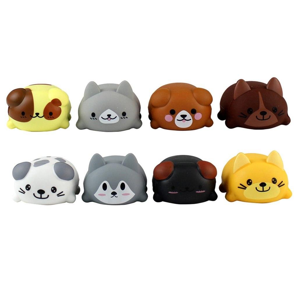 8 pièces/ensemble bébé enfants jouet échelle musicale tactile sensible chat chien électrique joueur Piano drôle Silicone animaux jouet éducatif - 5